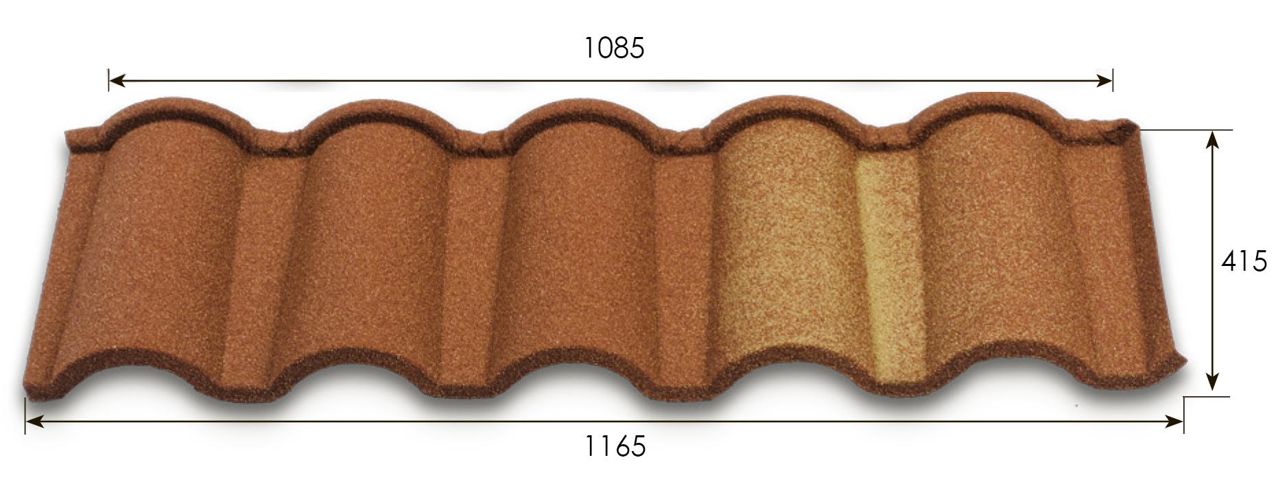 Размеры Metrotile Romana