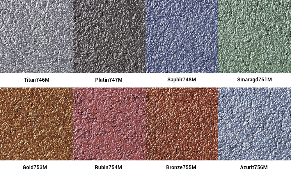 Цветовая гамма Baumit ArtLine Metallic