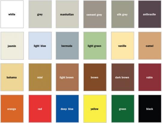 Цветовая гамма Baumit PREMIUM FUGE