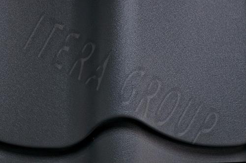Металлочерепица Ретро / Jaspis 7024 Графитовый серый