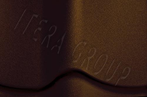 Металлочерепица Ретро / Jaspis 8019 Темно-коричневый