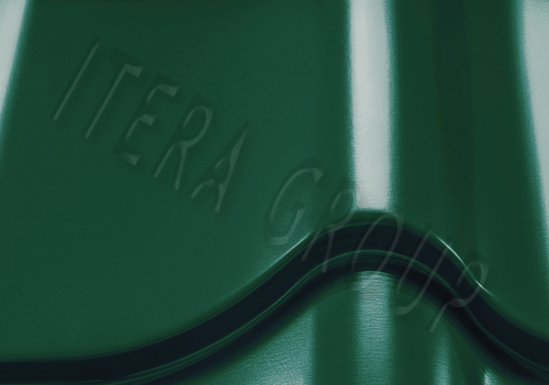 Металлочерепица Ретро / Jaspis  6005 Сине-зеленый