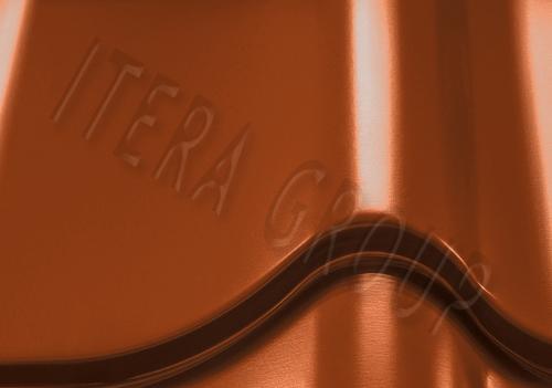 Металлочерепица Монтеррей Арселор 8004 Терракотовый
