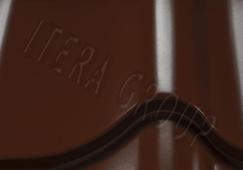 Металлочерепица Монтеррей 8017 Шоколадно-коричневый