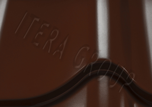 Металлочерепица Ретро / Jaspis  8017 Шоколадно-коричневый