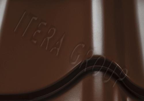 Металлочерепица Монтеррей 8019 Темно-коричневый