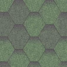 Битумная черепица Акваизол Мозаика Зеленая микс