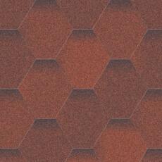 Битумная черепица Акваизол Мозаика Огненная лава