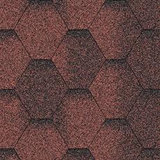 Битумная черепица Акваизол Мозаика Красная Эко