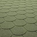 Битумная черпица Хвост Бобра A4 зеленый
