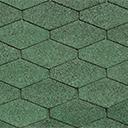 Битумная черепица IKO Diamant Shield цвет зеленый