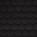 Битумная черепица IKO SUPERGLASS-BIBER цвет черный