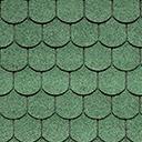 Битумная черепица IKO SUPERGLASS-BIBER цвет зеленый