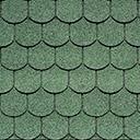 Битумная черепица IKO SUPERGLASS-BIBER цвет темно зеленый