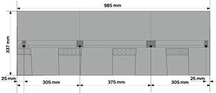 Битумная черепица KATEPAL MANSION - размеры