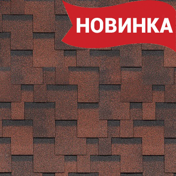 Шинглас Финская коллекция Аккорд Красный