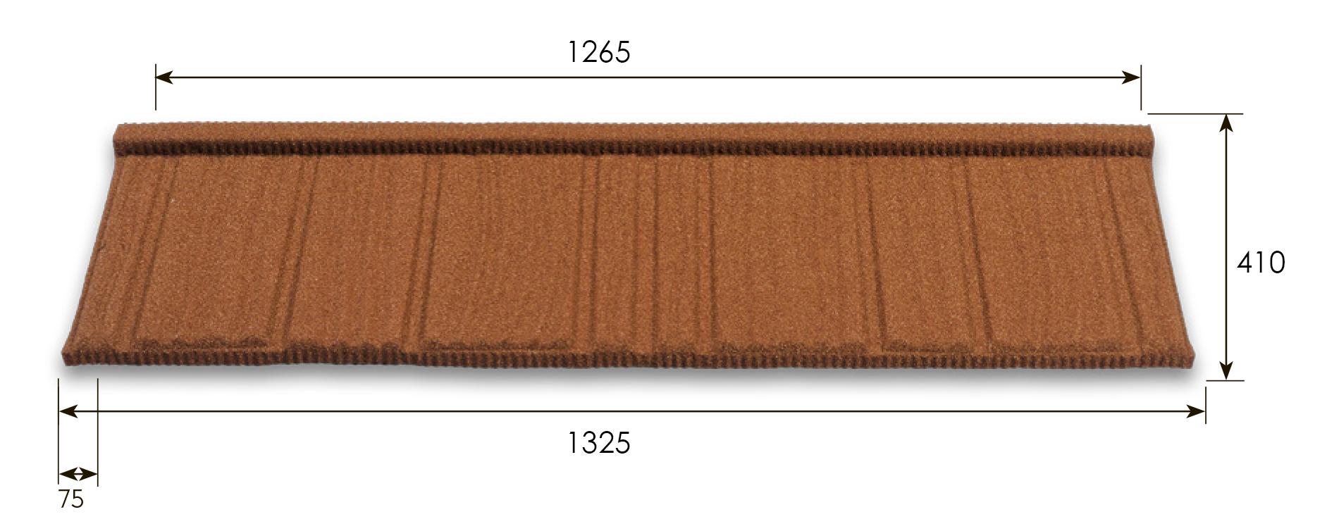Размеры Metrotile Wood
