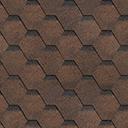 Битумная черепица Shinglas коричневый цвет