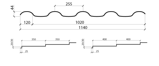 Размеры металлочерепицы Альпина Сталекс