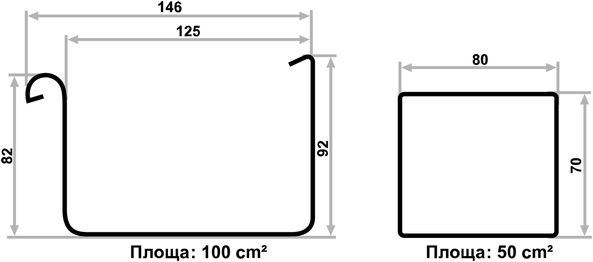 Діаметри ринв та труб у водостічній системі Galeco Bezokapowy