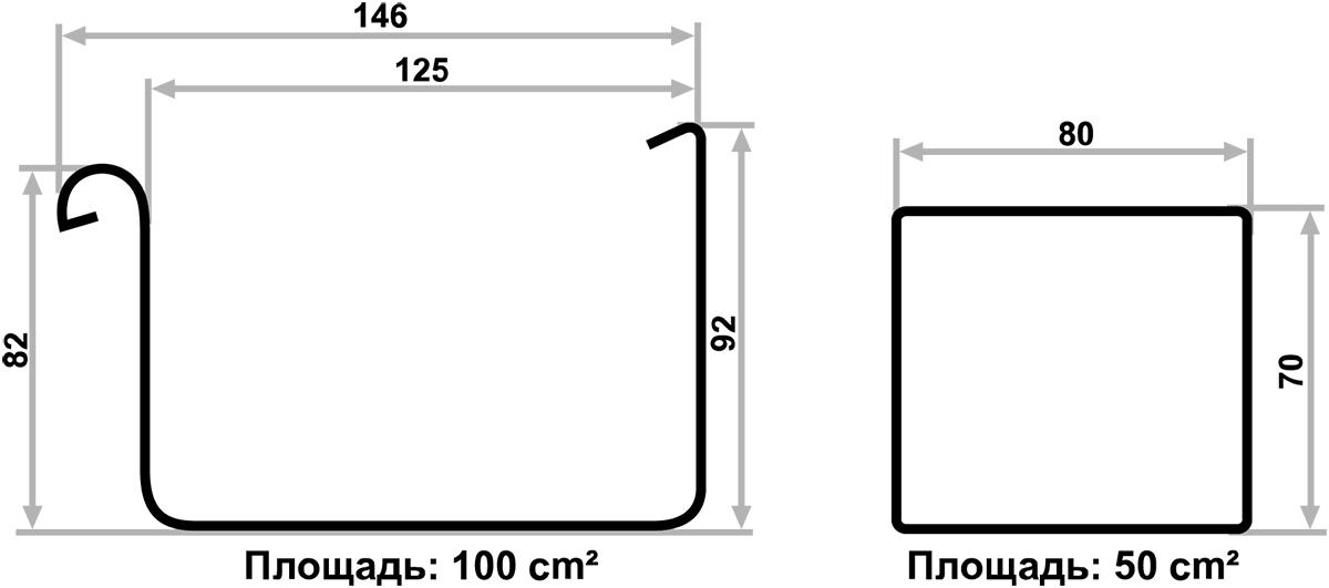 Диаметры желобов и труб в водосточной системе Galeco Bezokapowy