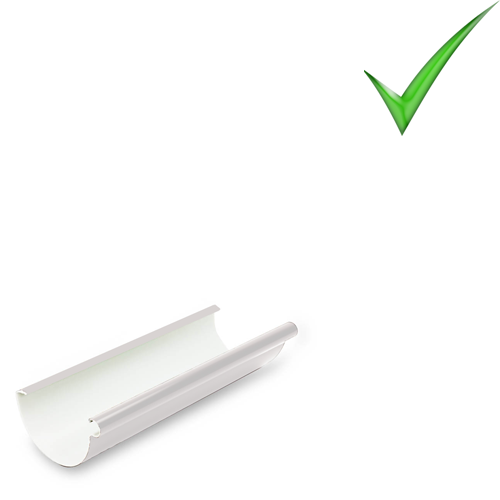 Водосточная система Galeco PVC 110 мм RAL 9010 Белый