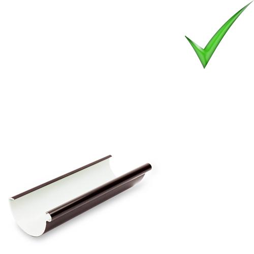 Водосточная система Galeco PVC 110 мм RAL 8017 Шоколадно-коричневый