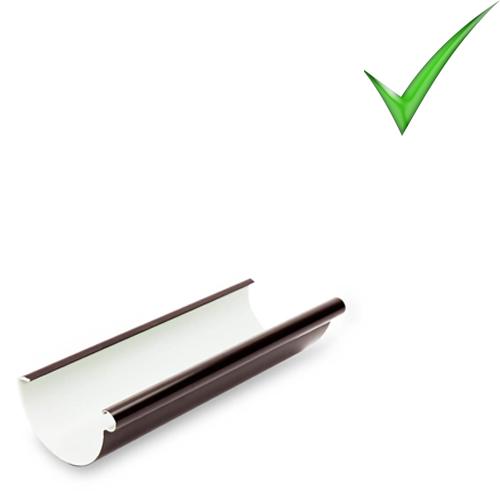 Водосточная система Galeco PVC 130 мм RAL 8017 Шоколадно-коричневый