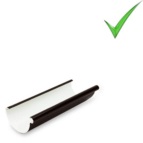 Водосточная система Galeco PVC 130 мм RAL 8019 Темно-коричневый