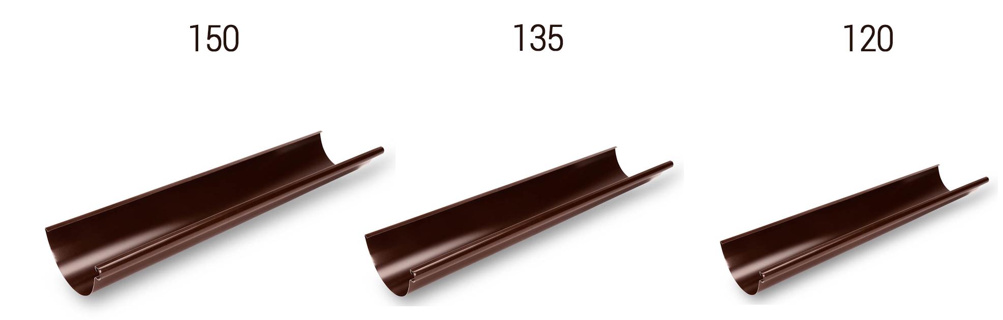 Размеры водосточной системы Galeco Stal