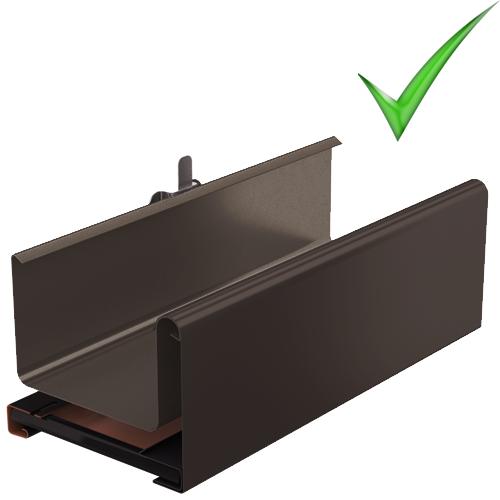 Водосточная система Galeco Stal 2 125 мм RAL 8017 Шоколадно-коричневый