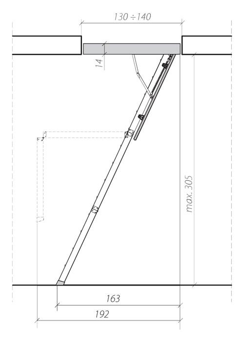 схема лестницы LWK 1