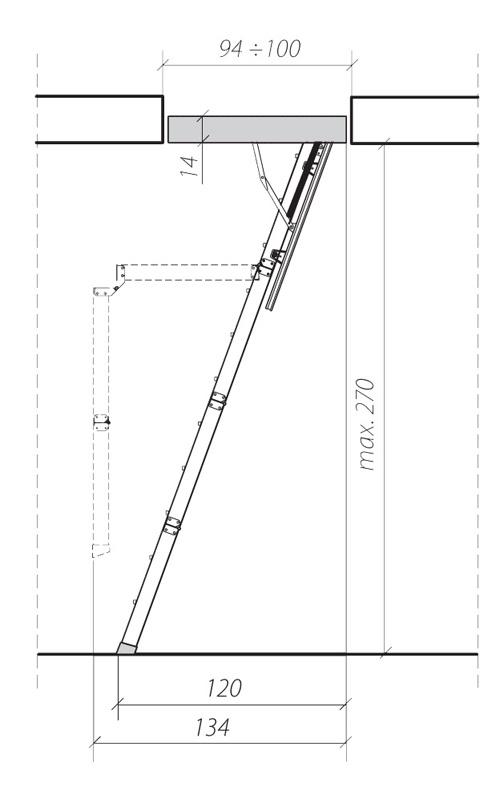 схема лестницы LWK 3