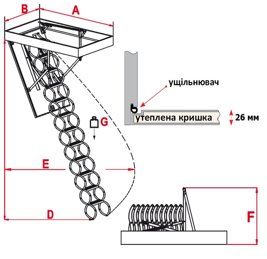 Схема сходів Flex Termo Metal Box