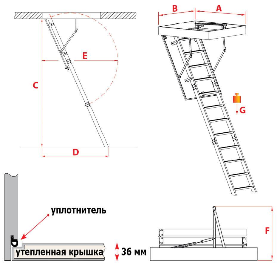 Схема лестницы Komfort