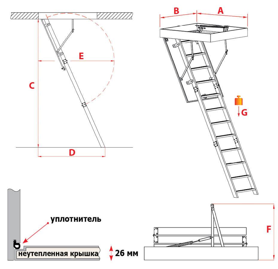 Схема лестницы PRIMA