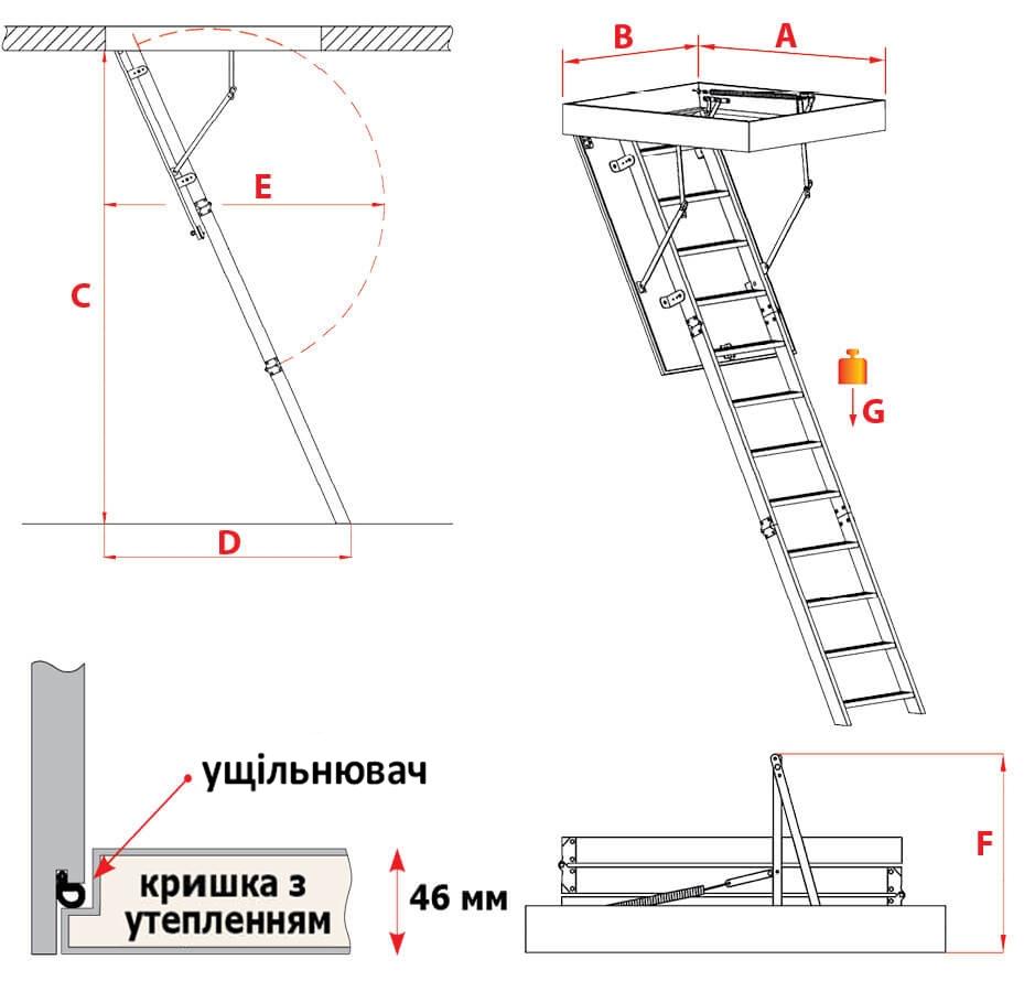 Схема сходів Sliding Extra
