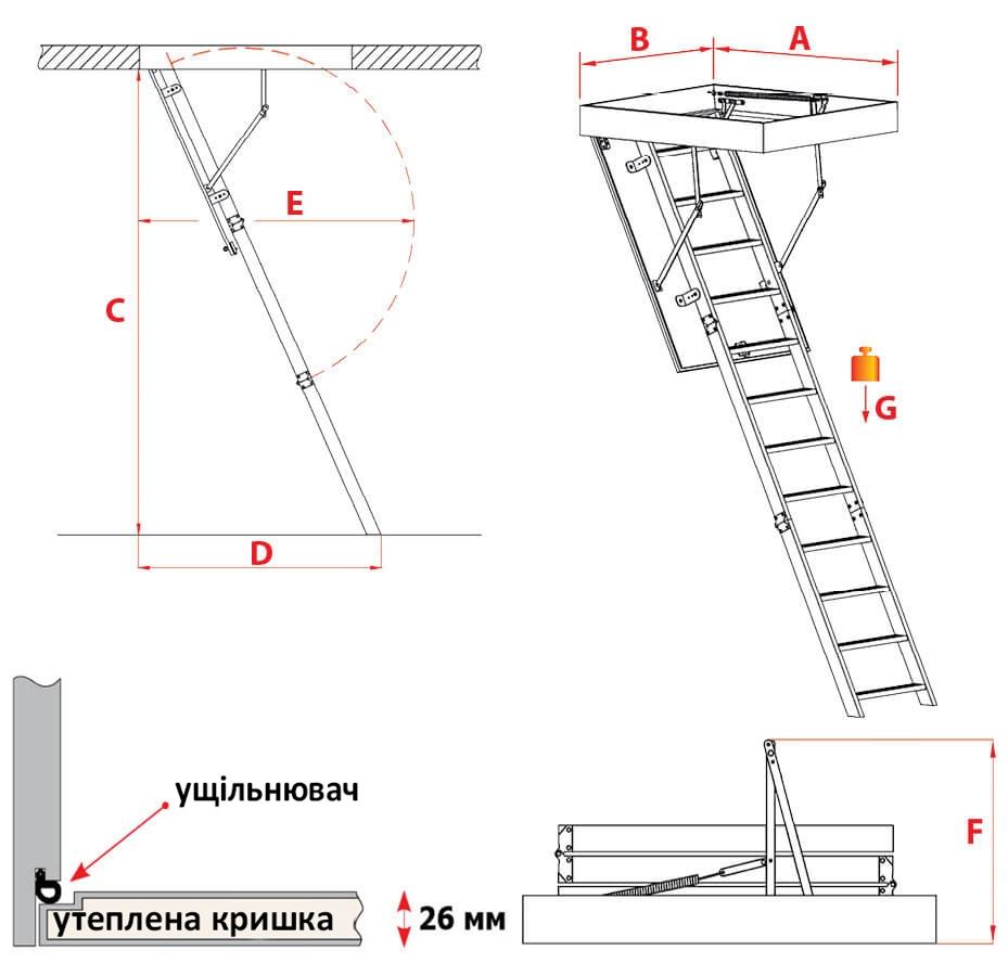 Схема сходів Stallux Termo