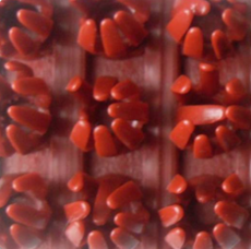Щетинистое покрытие 48-Темно-красный