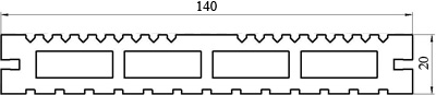 Террасная доска LITE Tardex размеры
