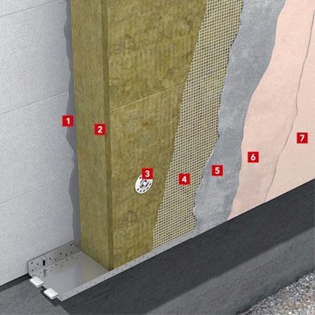 Теплоизоляция фасада с толстым штукатурным слоем