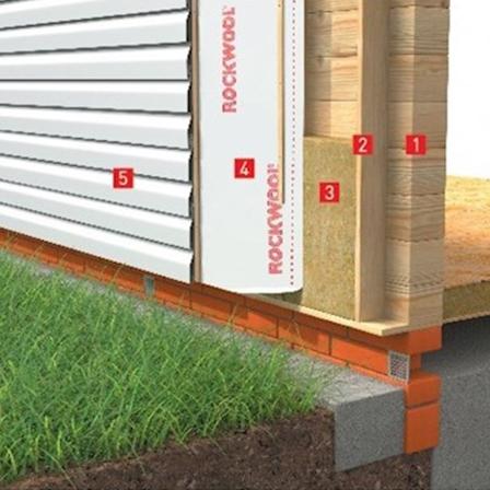 Теплоізоляція стін з сайдингом