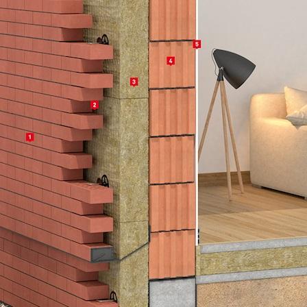 Теплоизоляция трехслойных внешних стен