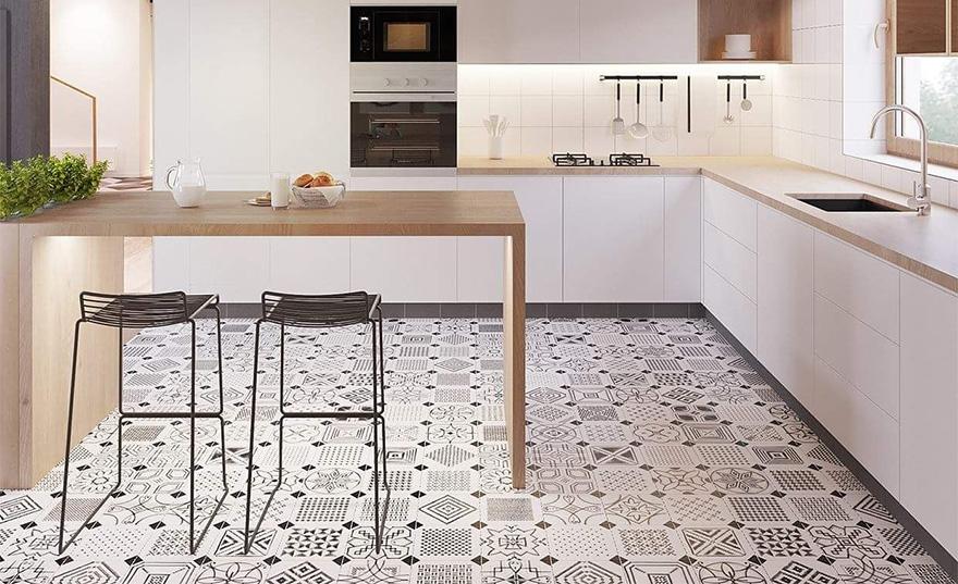 вінілова плитка для кухні