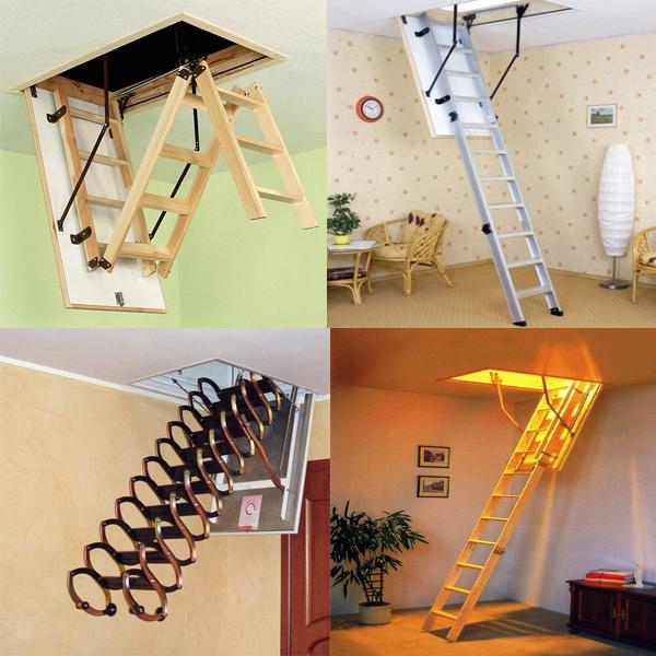 Как выбирать лестницы на чердак