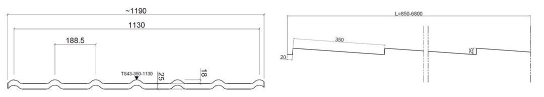 размеры металлочерепица руукки декоррей гранд