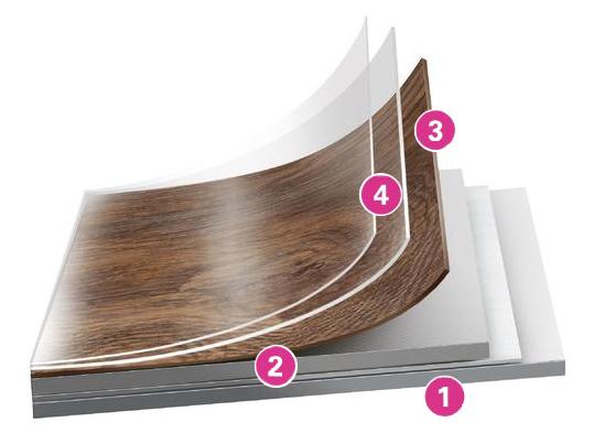 Структура вінілової плитки Таркетт