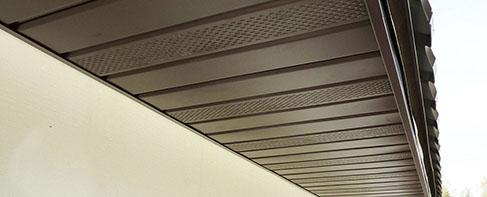 металеві софіти для підшивки даху