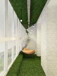 искусственная трава интерьер