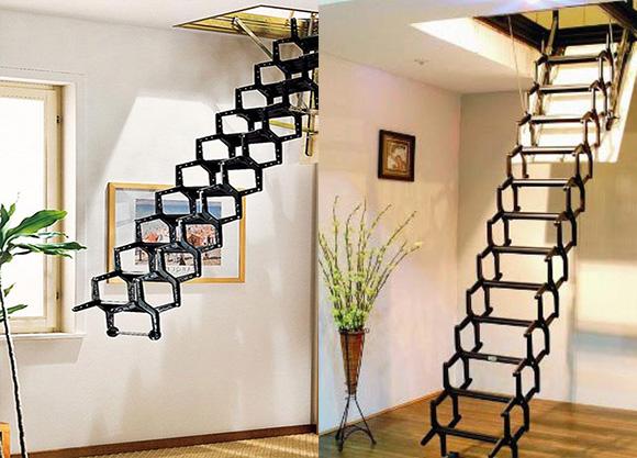 ножничная лестница для чердака